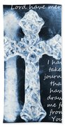Lord Have Mercy With Lyrics Beach Towel