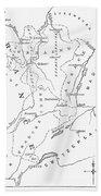 Lorraine And Alsace: Map Beach Towel