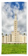 Los Angeles Temple Front Beach Towel