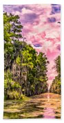 Louisiana Bayou Sunrise Beach Towel