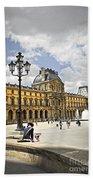 Louvre Museum Beach Towel by Elena Elisseeva