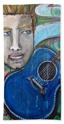 Love For Blue Guitar Beach Towel