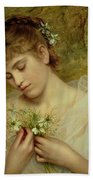 Love In A Mist Beach Towel by Sophie Anderson