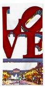Love In Philadelphia Beach Towel