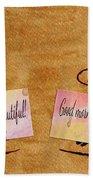 Love Morning Coffee Beach Towel