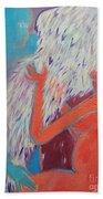 Loving My Angel Beach Towel by Ana Maria Edulescu