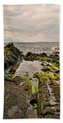 Low Tide Rocks Beach Towel