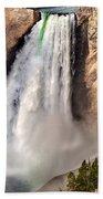 Lower Falls Of Yellowstone Beach Towel