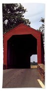 Loy's Station Covered Bridge Beach Towel