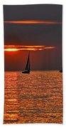 Red Maritime Dream Beach Towel