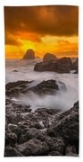 Luffenholtz Winter Sunset 2 Beach Towel
