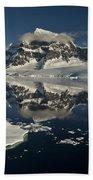 Luigi Peak Wiencke Island Antarctic Beach Towel by Colin Monteath