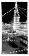 Luna Park - Coney Island - New York At Night - C 1903  Beach Towel