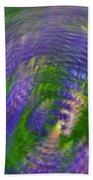 Lupine Swirl Beach Towel