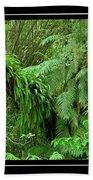 Lush Green Landscape Beach Towel