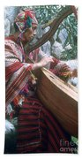 Lute Player Beach Towel by Photo Researchers, Inc.