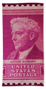 Luther Burbank Postage Stamp Beach Towel