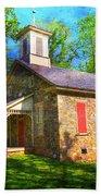 Lutz-franklin Schoolhouse Beach Towel by Paul Ward