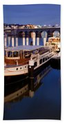 Maastricht Jetty On Maas River Beach Towel