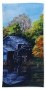 Mabry Mill In Autumn Beach Sheet