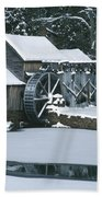 Mabry Mill Winter Beach Towel