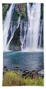 Macarthur-burney Falls Panorama Beach Towel