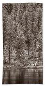 Madison River Yellowstone Bw Beach Towel