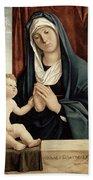 Madonna And Child - Late 15th To Early 16th Century  Beach Towel by Giovanni Battista Cima da Conegliano