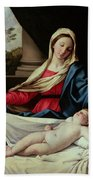 Madonna And Child  Beach Towel by II Sassoferrato
