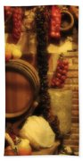 Madrid Food And Wine Still Life II Beach Towel