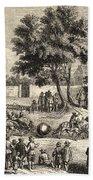 Magdeburg Hemispheres, 17th Century Beach Towel