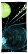 Magnetic White Dwarf Star Euvej0317-855 Beach Towel