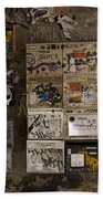 Mailboxes With Graffiti Beach Towel by RicardMN Photography