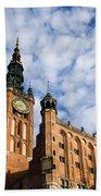 Main Town Hall In Gdansk Beach Towel