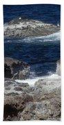 Maine Coast Surf Beach Towel