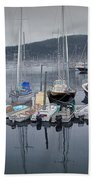 Maine Harbor Beach Towel