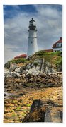 Maine Head Light Beach Towel