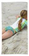 Making A Sand Angel Beach Towel