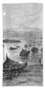 Malaya: Perak River, 1876 Beach Towel