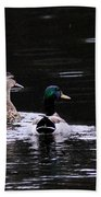 Mallards - Like Walking In The Rain Beach Towel