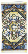 Mandala Of The Sun Beach Towel