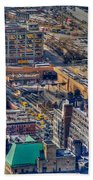 Manhattan Lincoln Tunnel Entrance Beach Towel
