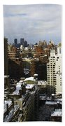 Manhattan View On A Winter Day Beach Towel