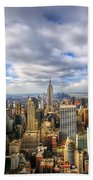 Manhattan05 Beach Towel by Svetlana Sewell