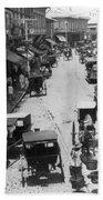 Manilla - Philippine Islands - Escolta Street Scene - C 1901 Beach Towel