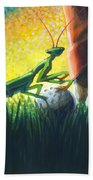 All Players Great And Small - Mantis Beach Towel