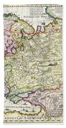 Map Of Asia Minor Beach Towel
