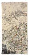 Map Of China, 1734 Beach Towel