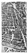 Map Of Paris Beach Towel by German School