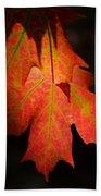 Maple Leaves Beach Towel